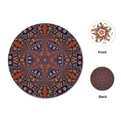 Armenian Carpet In Kaleidoscope Playing Cards (Round)