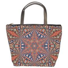 Armenian Carpet In Kaleidoscope Bucket Bags