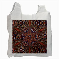 Armenian Carpet In Kaleidoscope Recycle Bag (One Side)