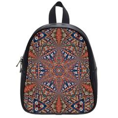 Armenian Carpet In Kaleidoscope School Bags (Small)