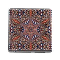 Armenian Carpet In Kaleidoscope Memory Card Reader (Square)
