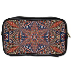 Armenian Carpet In Kaleidoscope Toiletries Bags 2 Side