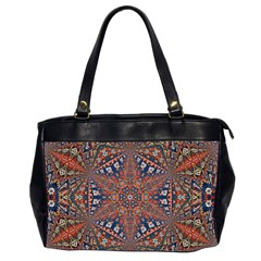 Armenian Carpet In Kaleidoscope Office Handbags (2 Sides)