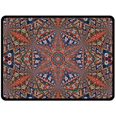 Armenian Carpet In Kaleidoscope Fleece Blanket (large)
