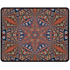 Armenian Carpet In Kaleidoscope Fleece Blanket (Medium)