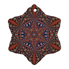 Armenian Carpet In Kaleidoscope Snowflake Ornament (Two Sides)