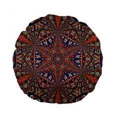 Armenian Carpet In Kaleidoscope Standard 15  Premium Round Cushions