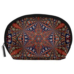 Armenian Carpet In Kaleidoscope Accessory Pouches (large)