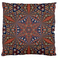 Armenian Carpet In Kaleidoscope Large Flano Cushion Case (two Sides)