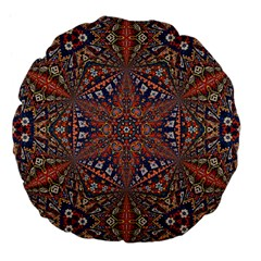 Armenian Carpet In Kaleidoscope Large 18  Premium Flano Round Cushions