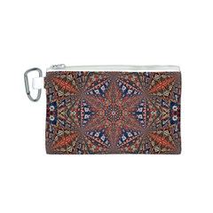 Armenian Carpet In Kaleidoscope Canvas Cosmetic Bag (S)