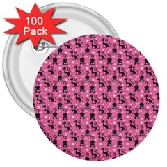 Cute Cats I 3  Buttons (100 pack)