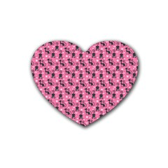 Cute Cats I Rubber Coaster (heart)