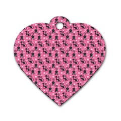 Cute Cats I Dog Tag Heart (one Side)