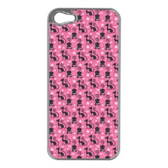 Cute Cats I Apple iPhone 5 Case (Silver)