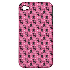 Cute Cats I Apple iPhone 4/4S Hardshell Case (PC+Silicone)
