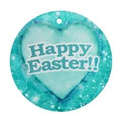 Happy Easter Theme Graphic Ornament (Round)