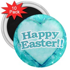 Happy Easter Theme Graphic 3  Magnets (10 pack)