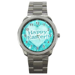 Happy Easter Theme Graphic Sport Metal Watch