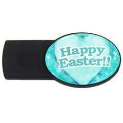 Happy Easter Theme Graphic USB Flash Drive Oval (4 GB)