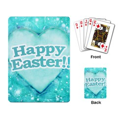Happy Easter Theme Graphic Playing Card