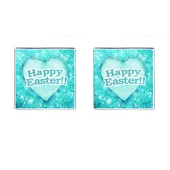 Happy Easter Theme Graphic Cufflinks (Square)