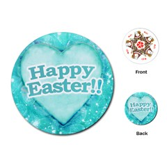 Happy Easter Theme Graphic Playing Cards (Round)
