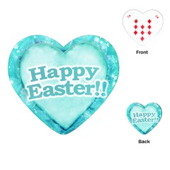 Happy Easter Theme Graphic Playing Cards (Heart)