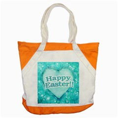 Happy Easter Theme Graphic Accent Tote Bag