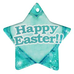 Happy Easter Theme Graphic Star Ornament (Two Sides)