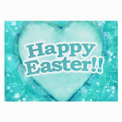 Happy Easter Theme Graphic Large Glasses Cloth