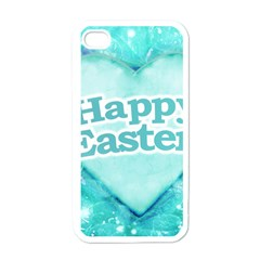 Happy Easter Theme Graphic Apple iPhone 4 Case (White)