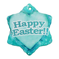 Happy Easter Theme Graphic Ornament (Snowflake)