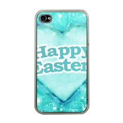Happy Easter Theme Graphic Apple iPhone 4 Case (Clear)