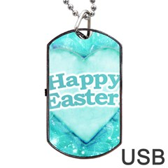 Happy Easter Theme Graphic Dog Tag USB Flash (One Side)