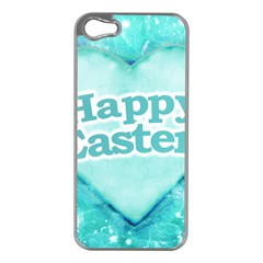 Happy Easter Theme Graphic Apple iPhone 5 Case (Silver)