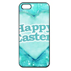 Happy Easter Theme Graphic Apple iPhone 5 Seamless Case (Black)