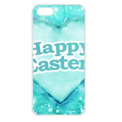 Happy Easter Theme Graphic Apple iPhone 5 Seamless Case (White)