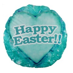 Happy Easter Theme Graphic Large 18  Premium Round Cushions