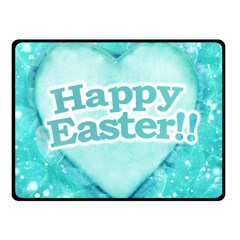 Happy Easter Theme Graphic Double Sided Fleece Blanket (Small)