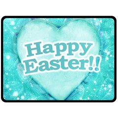 Happy Easter Theme Graphic Double Sided Fleece Blanket (Large)