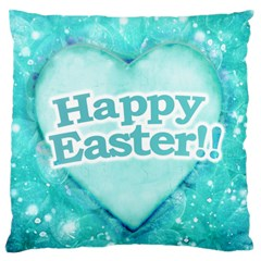 Happy Easter Theme Graphic Standard Flano Cushion Case (One Side)