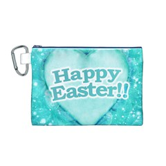 Happy Easter Theme Graphic Canvas Cosmetic Bag (M)