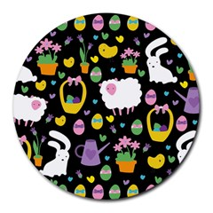 Cute Easter pattern Round Mousepads