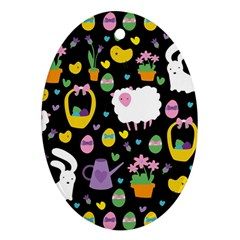 Cute Easter pattern Ornament (Oval)