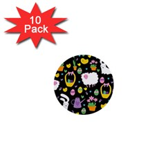 Cute Easter pattern 1  Mini Buttons (10 pack)