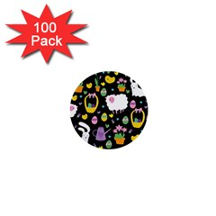 Cute Easter pattern 1  Mini Buttons (100 pack)