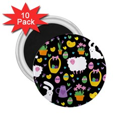 Cute Easter pattern 2.25  Magnets (10 pack)