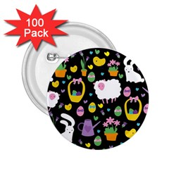 Cute Easter pattern 2.25  Buttons (100 pack)