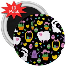 Cute Easter pattern 3  Magnets (10 pack)